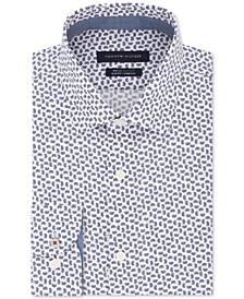 Men's Slim-Fit Non-Iron THFlex Supima® Performance Stretch Print Dress Shirt, Created for Macy's
