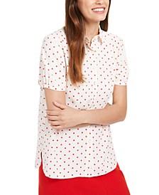 Micro-Dot Button-Up Shirt