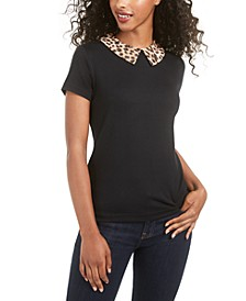 Printed-Collar Top, Created for Macy's