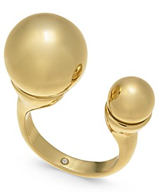 Gold-Tone Imitation Pearl Cuff Ring, Created for Macy's