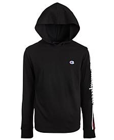 Little Boys Logo Long Sleeve Hooded T-shirt