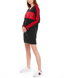 Tommy Hilfiger Sport Colorblocked Logo Fleece Dress