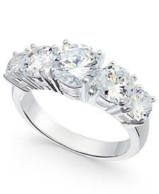 Charter Club Silver-Tone Crystal Ring, Created For Macy's