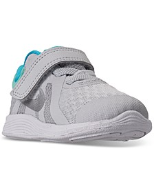 Toddler Girls Revolution 4 Stay-Put Closure Athletic Sneakers from Finish Line