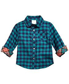 Baby Boys Cotton Plaid Shirt, Created for Macy's