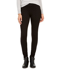 Style & Co Dot-Print Pull-On Pants, Created for Macy's
