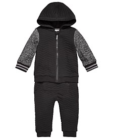 First Impressions Baby Boys Quilted Jacket & Jogger Pants, Created for Macy's
