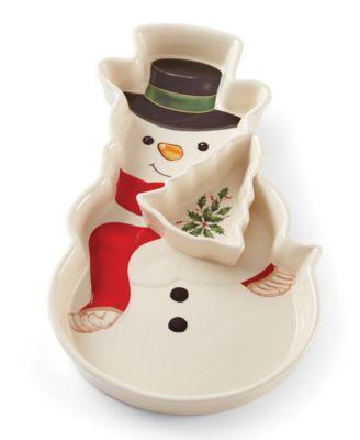 Holiday Entertaining Snowman Chip & Dip