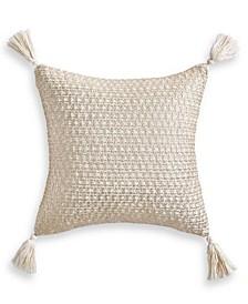"CLOSEOUT! Gold Printed 18"" x 18"" Decorative Pillow"