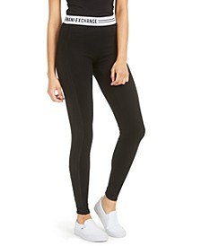 Logo-Waistband Stretch Leggings