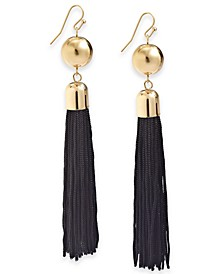 INC Gold-Tone Fringe Drop Earrings, Created For Macy's