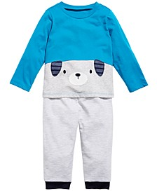 Baby Boys Puppy T-Shirt & Jogger Pants, Created for Macy's