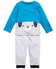 First Impressions Baby Boys Puppy T-Shirt & Jogger Pants, Created for Macy's