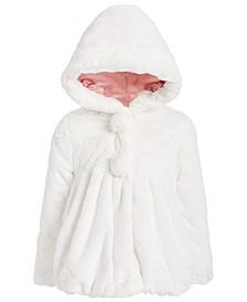 Little Girls Hooded Teddy Plush Faux-Fur Jacket