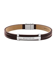 Tommy Hilfiger Men's Genuine Leather Bracelet