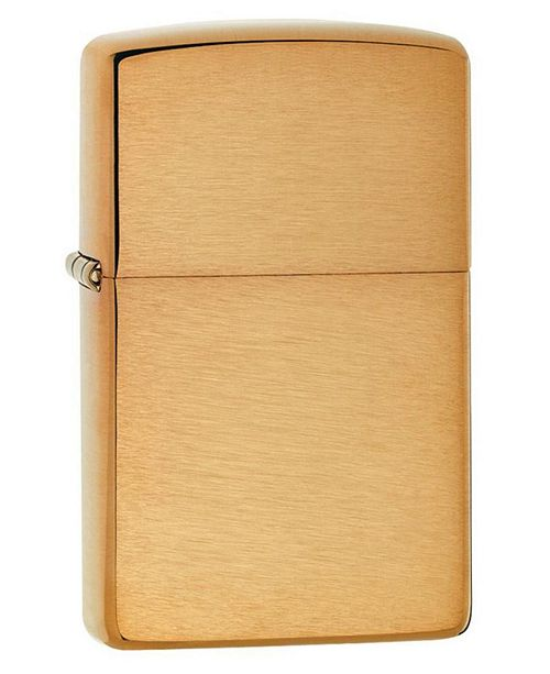 Sportsman's Supply Zippo Brushed Brass without Solid Brass Engraved Lighter