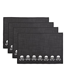 Skulls Embroidered Placemat Set