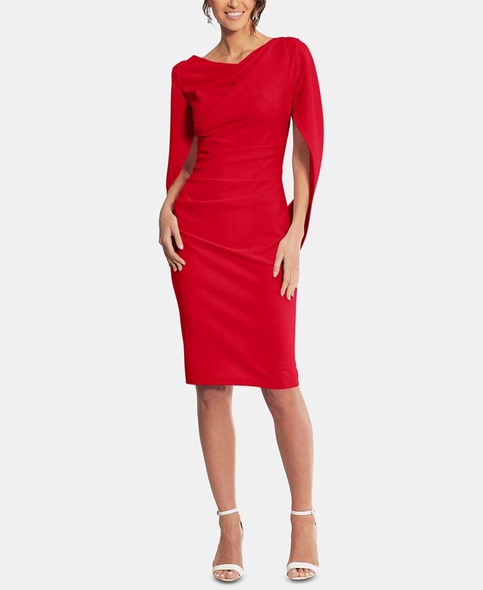 Betsy & Adam - Caped Sheath Dress