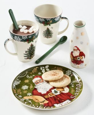 Christmas Tree Cookies for Santa Plate & Bottle