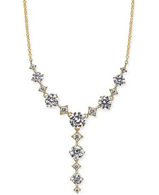 "Gold-Tone Cubic Zirconia Lariat Necklace, 16"" + 1"" extender, Created For Macy's"