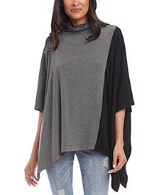 Colorblocked Poncho-Top