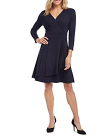 Cascade Faux-Wrap Dress, Created for Macy's