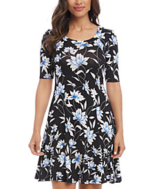 Karen Kane Printed A-Line Sleeveless Dress