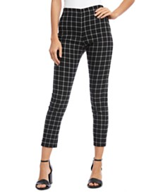 Karen Kane Plaid Cropped Pants