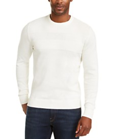 Club Room Men's Stripe Cotton Crewneck Sweater