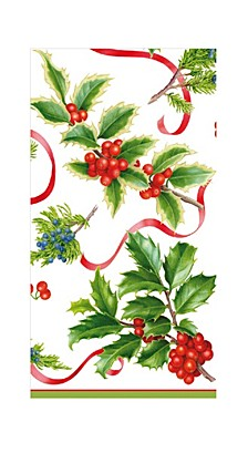 Christmas Trimmings Ivory Paper Guest Towel