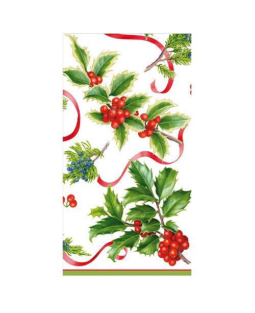 Caspari Christmas Trimmings Ivory Paper Guest Towel