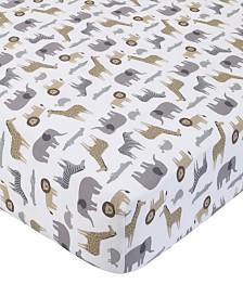 Carter's Cotton Sateen Crib Sheet - Multi Safari