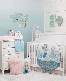 Sugar Reef Mermaid 4-Piece Crib Bedding Set