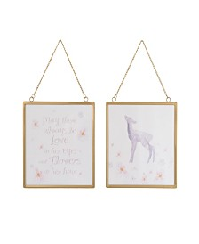 NoJo Watercolor Deer 2-Piece Wall Art Set