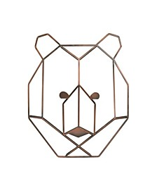 Mountain Patchwork Bear Head Wall Art