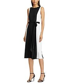 Colorblocked Sleeveless Midi Dress