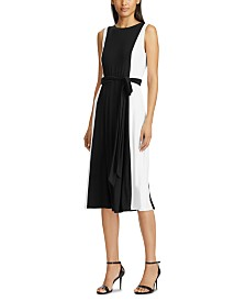 Lauren Ralph Lauren Colorblocked Sleeveless Midi Dress