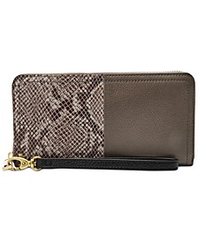 RFID Logan Leather Zip Wallet