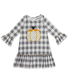 Rare Editions Little Girls Plaid Pumpkin Dress