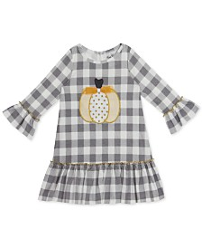 Rare Editions Toddler Girls Plaid Pumpkin Dress