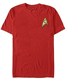 Men's The Original Series Engineer Starfleet Insignia Short Sleeve T-Shirt