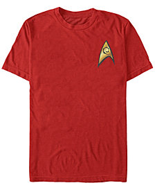 Star Trek Men's The Original Series Engineer Starfleet Insignia Short Sleeve T-Shirt