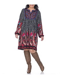 Women's Plus Size Apolline Embroidered Sweater Dress