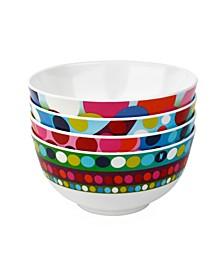 """6"""" x 3"""" Bindi Soup Bowl, Set of 4"""