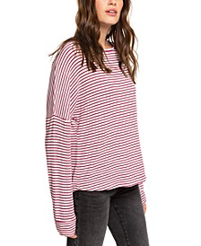 Juniors' Holiday Everyday Striped Top