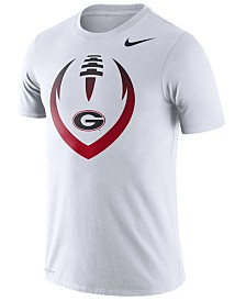 Nike Men's Georgia Bulldogs Dri-Fit Cotton Icon T-Shirt