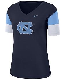 Nike Women's North Carolina Tar Heels Breathe V-Neck T-Shirt