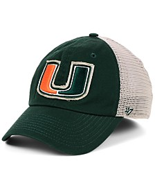 '47 Brand Miami Hurricanes Stamper CLOSER Stretch Fitted Cap