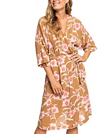 Juniors' Privy Places Kimono Wrap Dress