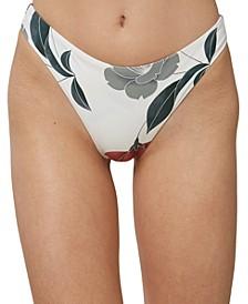 Juniors' Trinity Printed High-Leg Cheeky Bikini Bottoms